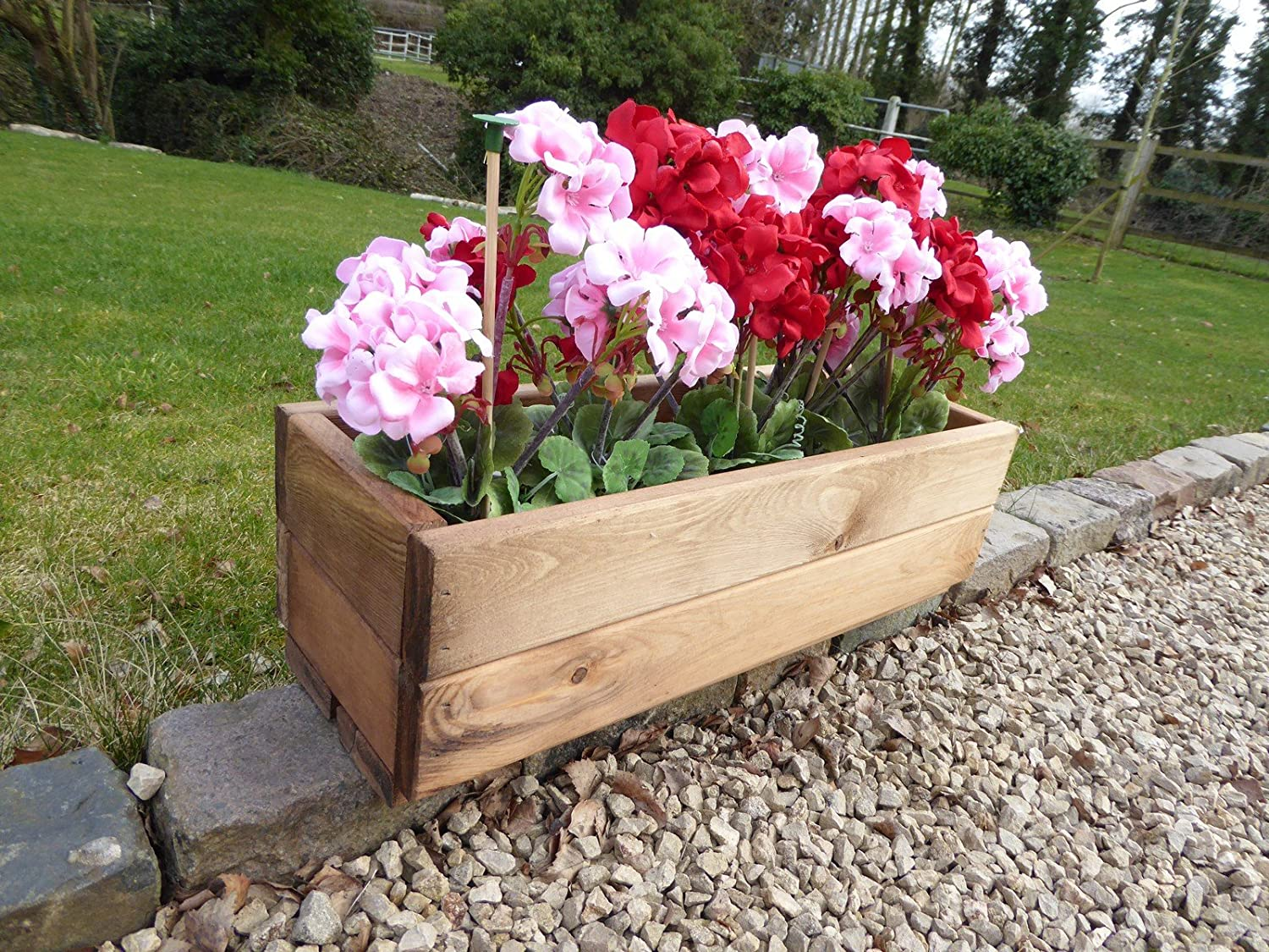 Large Window Box By Metal Rectangular Flower Trough Containers