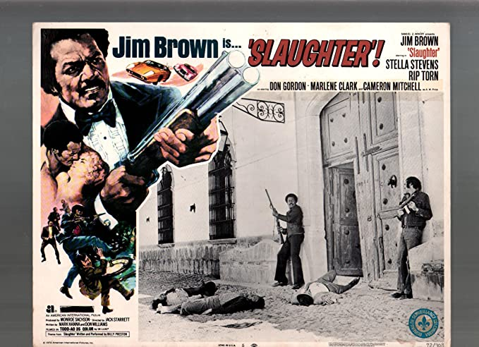 Jim Brown Slaughter >> Amazon Com Movie Poster Slaughter Jim Brown 11x14 Color
