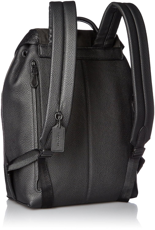 7a1ede113c1b Amazon.com: COACH Men's Manhattan Backpack Black/Black Backpack: Shoes
