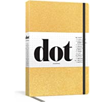 Dot Journal (Gold): A Dotted, Blank Journal for List-Making, Journaling, Goal-Setting: 256 Pages with Elastic Closure and Ribbon Marker