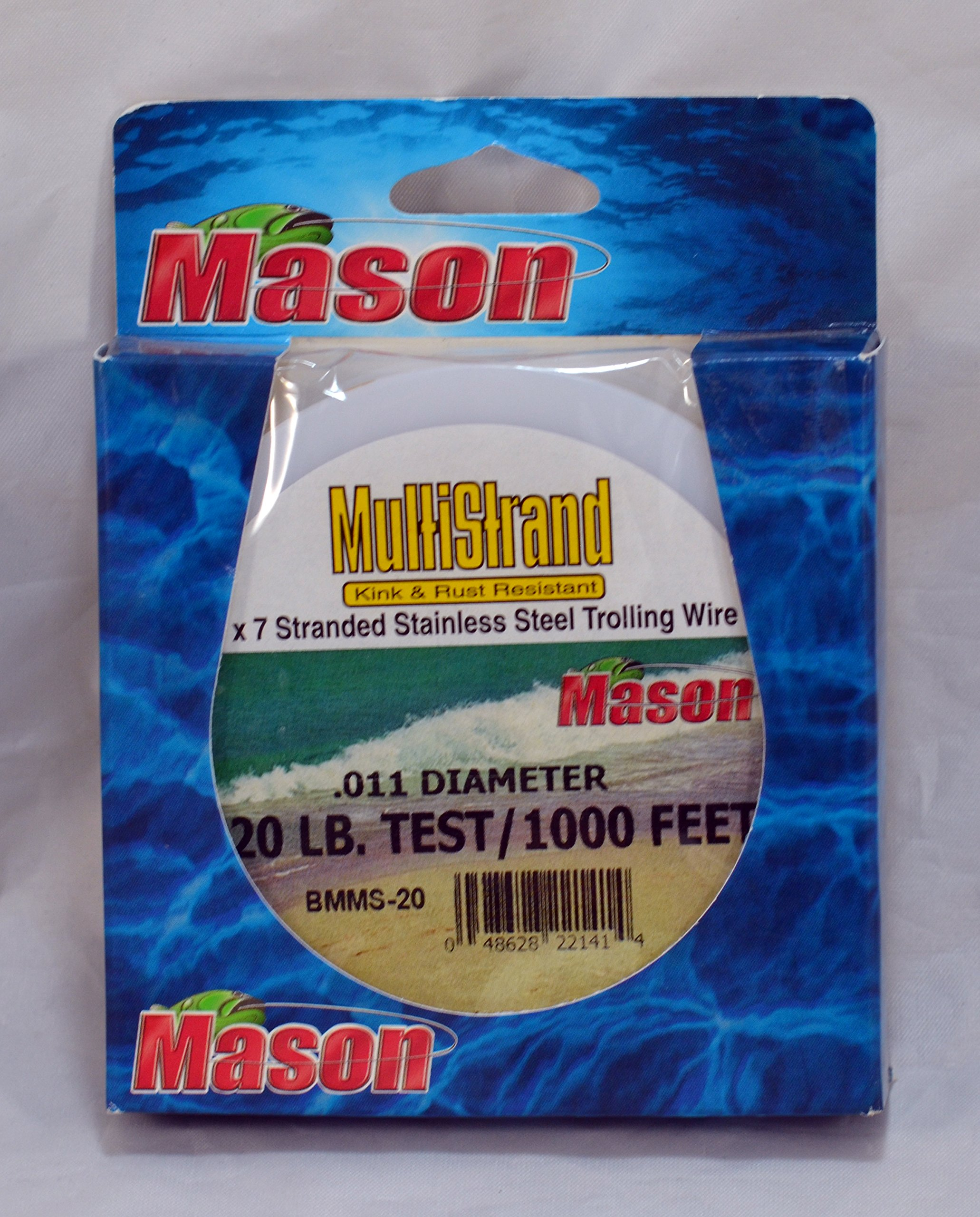 Mason Tackle Multistrand Leader Wire Brown 30# 1000' BMMS-30 by Mason Tackle