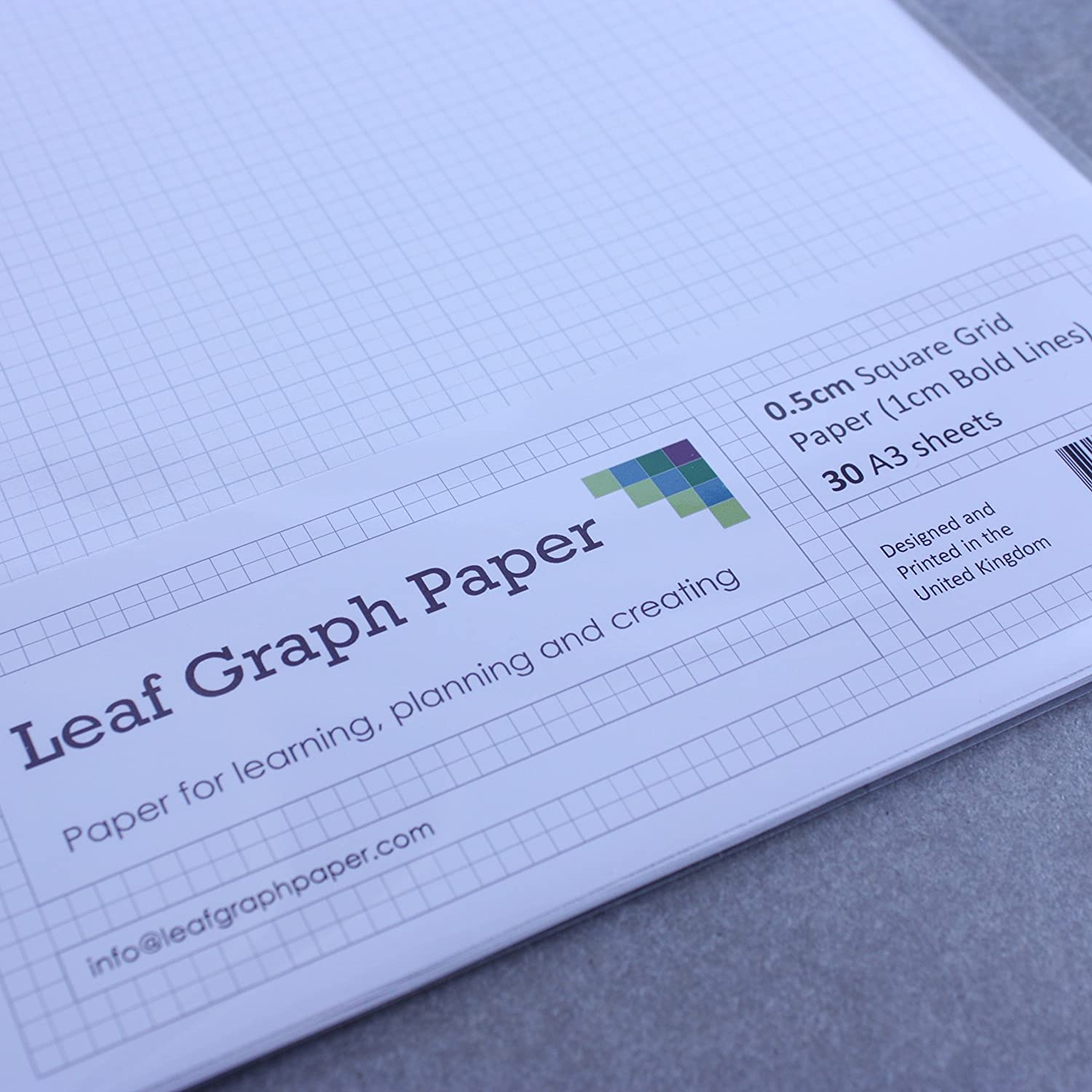 a3 graph paper 5mm 0 5cm squared engineering 30 loose leaf sheets