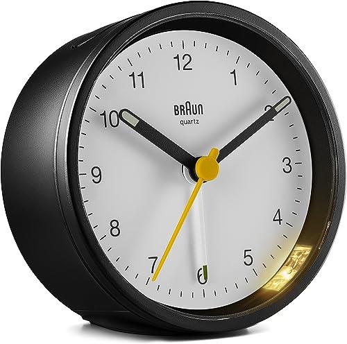 Braun Classic Analogue Alarm Clock – BC12BW