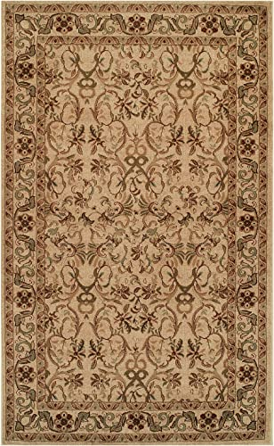 Blue Nile Mills Heritage 8 x 10 Ivory Area Rug, Contemporary Living Room Bedroom Area Rug, Anti-Static and Water-Repellent for Residential or Commercial Use, 8-feet by 10-feet