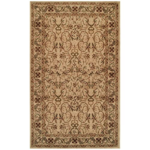 Blue Nile Mills Heritage 5 x 8 Ivory Area Rug, Contemporary Living Room Bedroom Area Rug, Anti-Static and Water-Repellent for Residential or Commercial Use, 5-feet by 8-feet