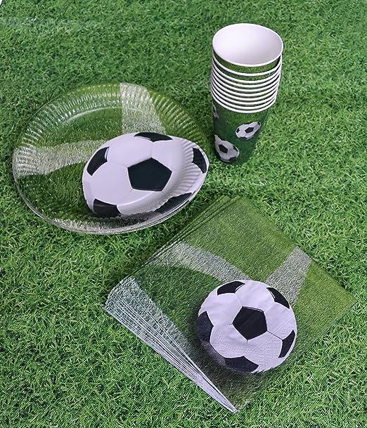 Platos, vasos, servilletas y mantel en diseño de balón (41 ...