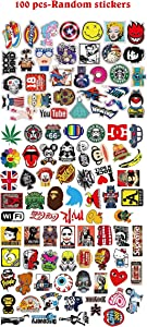 100 PCS Vinyl Cool Stickers,Stickers for Skateboard, Water Bottles Motorcycle Bicycle Luggage, Car Laptop,Stickers Pack (100-PCS) (100-PCS)