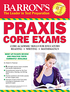 Amazon barrons praxiscoreplt 7th edition barrons praxis barrons praxis core exams core academic skills for educators barrons praxis core exams core fandeluxe Image collections