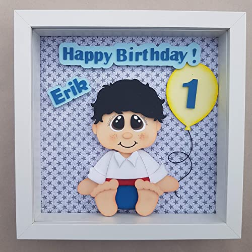 Personalized Babys 1st Birthday Gift 3D Illustration Nursery Art Decor Children Gifts Keepsake Amazoncouk Handmade