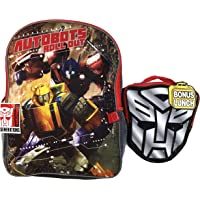 Transformers Backpack with Insulated Lunch Bag