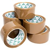 Heavy Duty Brown Packaging Tape, 6 Rolls, 48MM x 66M