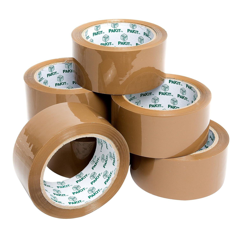 Heavy Duty Brown Packaging Tape, 6 Rolls, 48MM x 66M