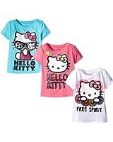Hello Kitty Girls' 3 Pack T-Shirt