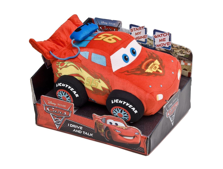 Cars Disney 2 1000431 Lightning McQueen - Coche de peluche con sonido y movimiento, 25 cm [importado de Alemania]: Amazon.es: Juguetes y juegos