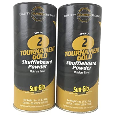 Twin Pack of Sun-Glo #2 Speed Shuffleboard Powder Wax : Sports & Outdoors