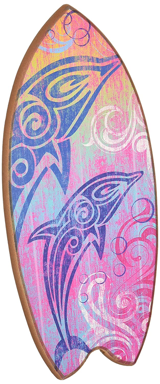 Nuevo arco iris tabla de surf tribal delfines cartel arte de ...