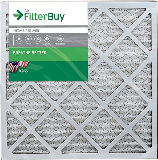 Pack of 2 Filters 18x22x1 FilterBuy 18x22x1 MERV 8 Pleated AC Furnace Air Filter, Silver