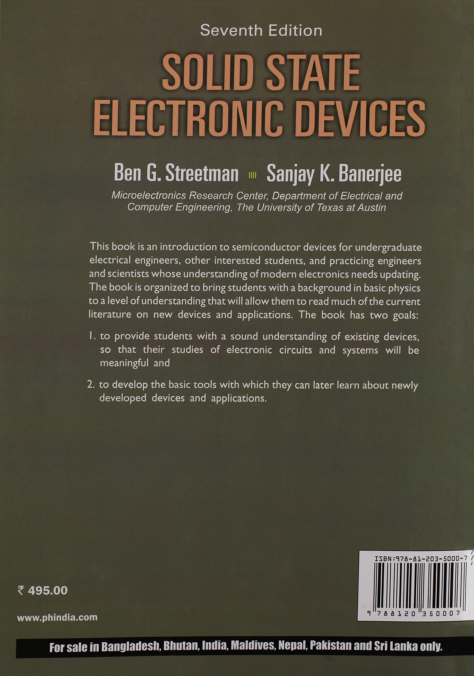 Buy Solid State Electronic Devices Book Online At Low Prices In Circuit Analysis Design Neamen Free Download India Reviews Ratings