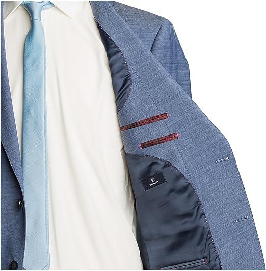 Barutti Sakko Tarso N AMF Hellblau Meliert Tailored Fit taillierter Schnitt Schurwolle Mischgewebe Super 100S 8012