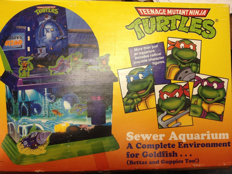 Amazon.com: Teenage Mutant Ninja Turtle Sewer Acuario: Mascotas