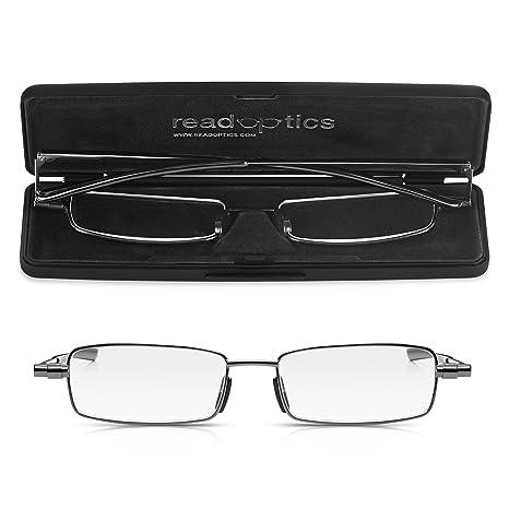 3b1e490fd31 Read Optics Foldable Reading Glasses Fold Up Flat in Thin Travel Case   +2.00 Mens