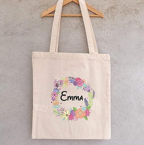 Ramo de flores, Bolsa personalizada, tote bag, bolsa de niño, bolsa de