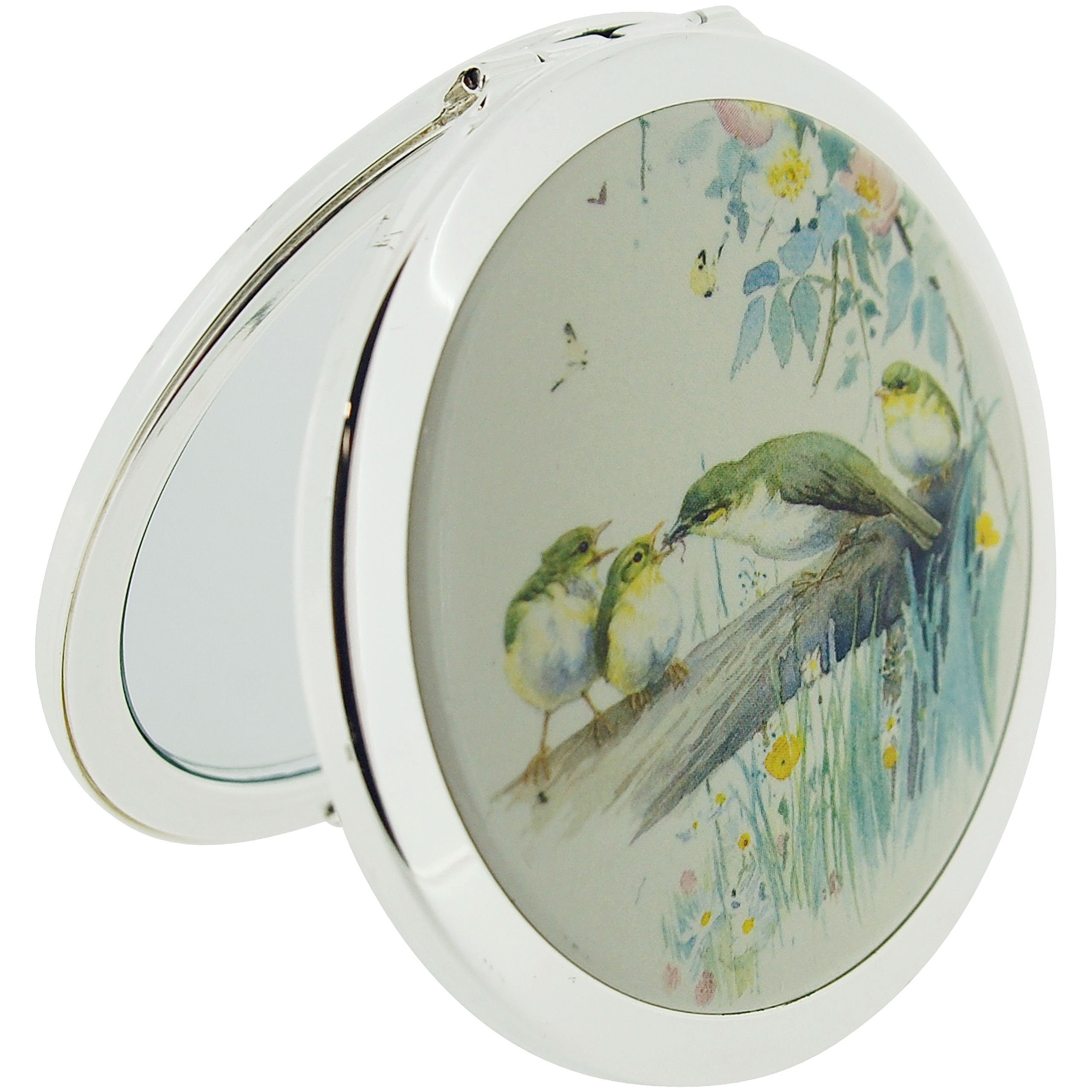 Stratton Compact Mirror Ladies Heritage Collection Double Pocket Mirror 3x Magnification Country Diary Design ST1143