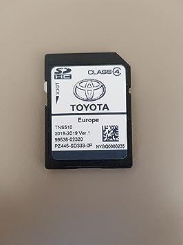 Tarjeta SD GPS Europe TNS510 Toyota 2018-2019 Ver.1: Amazon ...