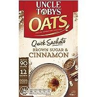 UNCLE TOBYS Oats Quick SACHETS Brown Sugar & Cinnamon, 12 x 35g