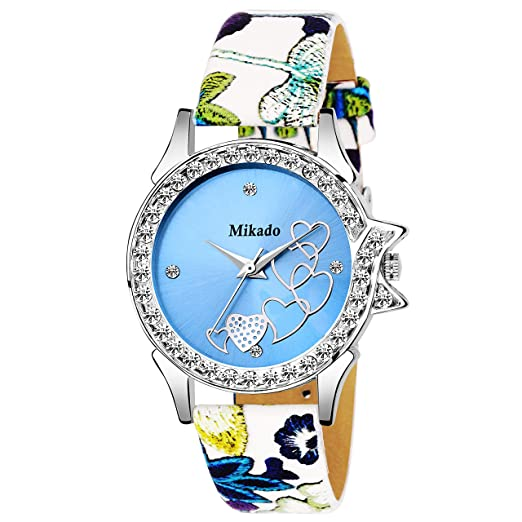 78383e4c4 Buy Mikado Solana Artistic Designer Strap Blue Heart Design Analog Watch  for Women and Girls Online at Low Prices in India - Amazon.in
