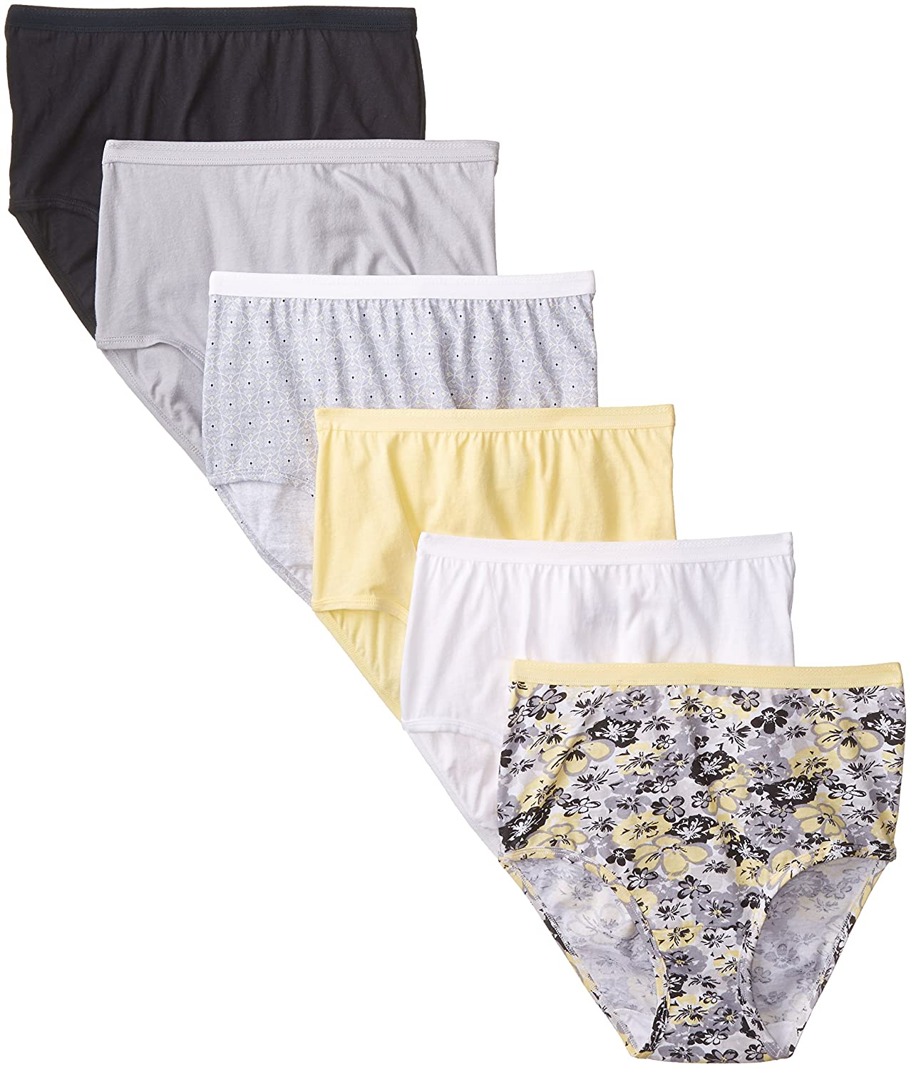 Fruit of the Loom Womens 6 pack Cotton Brief Panties at Amazon Womens Clothing store: