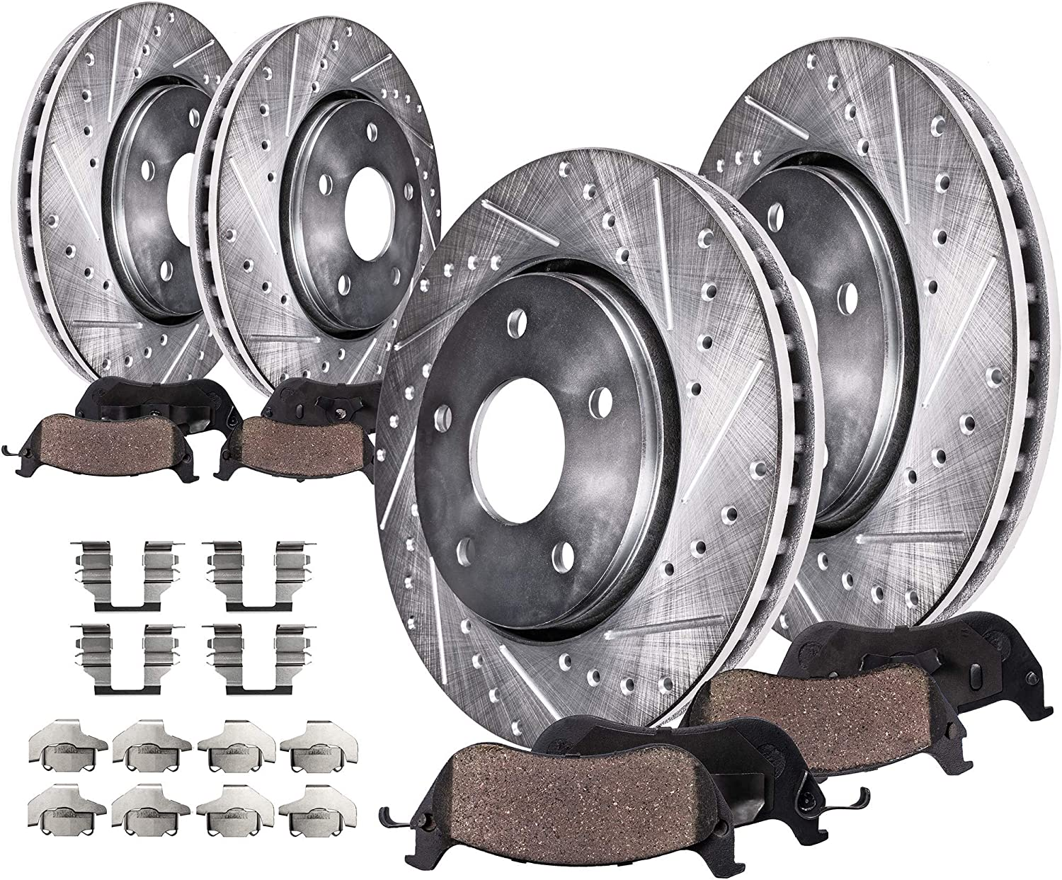 2007 2008 2009 Lincoln MKX AWD OE Replacement Rotors Ceramic Pads F