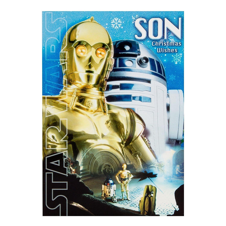 Amazon.com : Hallmark Star Wars Christmas Card To Son \'Signs of ...