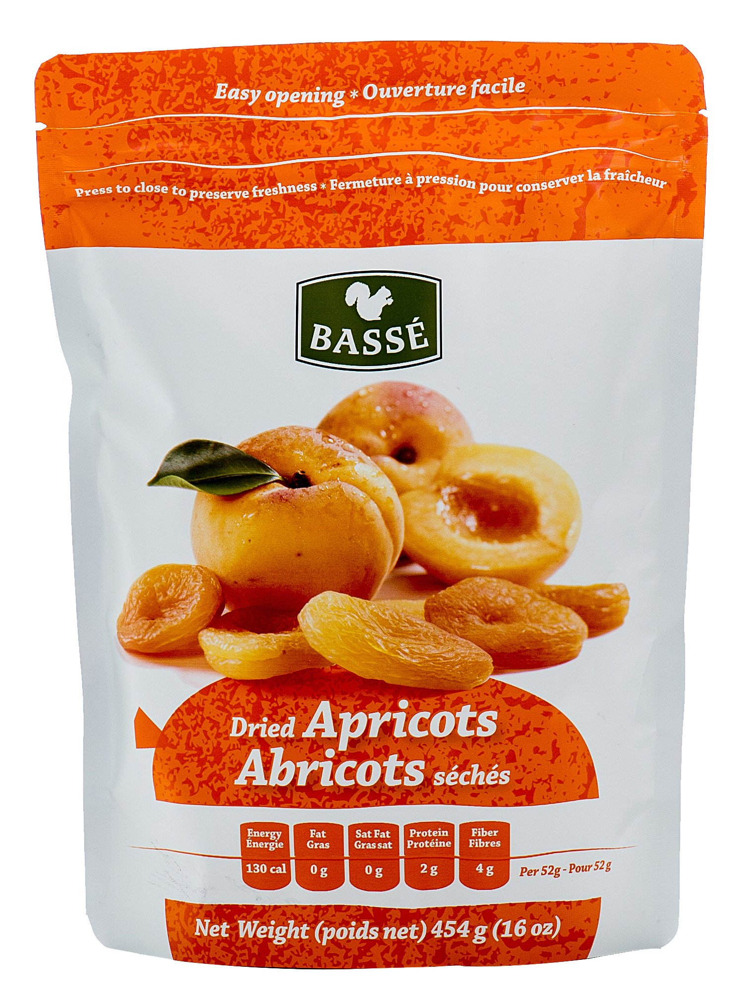Dried Apricots, 1 Pound Bag from Basse Dried Fruits - 1lb Bag of Dried Apricots, Great Healthy Snack (1 Pound Bag)