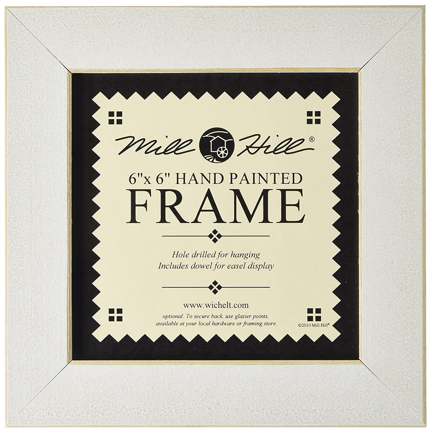 Amazoncom Mill Hill Wooden Frame 6 By 6 Inch Antique White