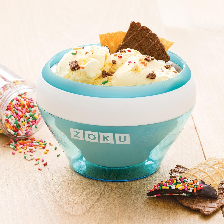 Zoku ZK120-RD Bowl helados cremosos-rojo, Plástico, Red