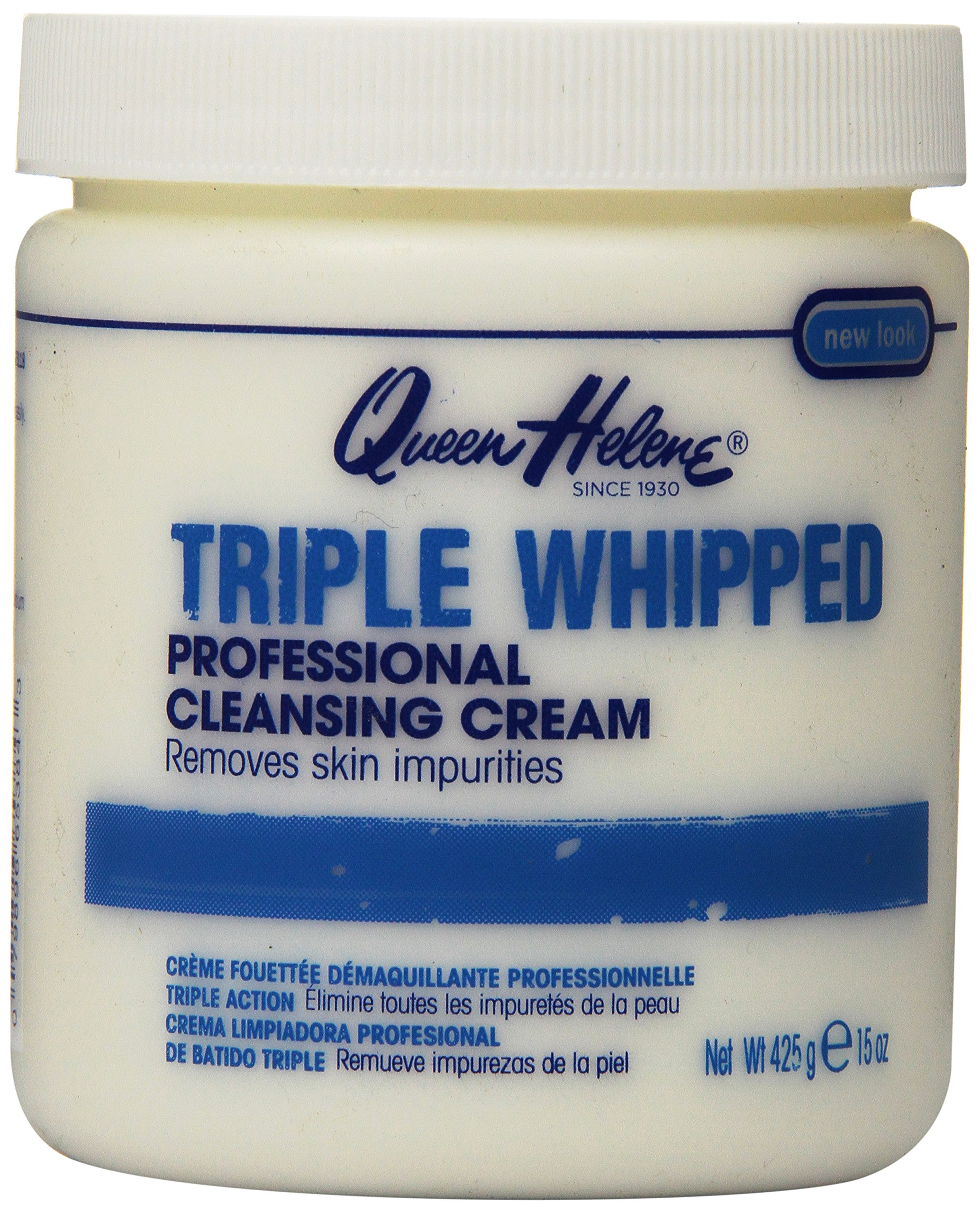Queen Helene Professional Cleansing Cream, Triple Whipped, 15 Ounce [Packaging May Vary]