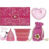 Anigan EvaCup Menstrual Cup Gift Set, Includes: EvaCup, Sterilizing Cup and more (Small, Rose)
