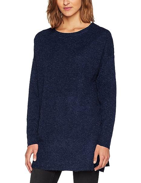 Vero Moda Vmcersei LS Long O-Neck Blouse, Suéter para Mujer, Verde (Green Gables), 36 (Talla del Fabricante: Small)