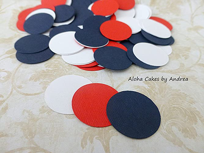 Amazoncom Circle Confetti Navy Blue Red And White 1 Inch