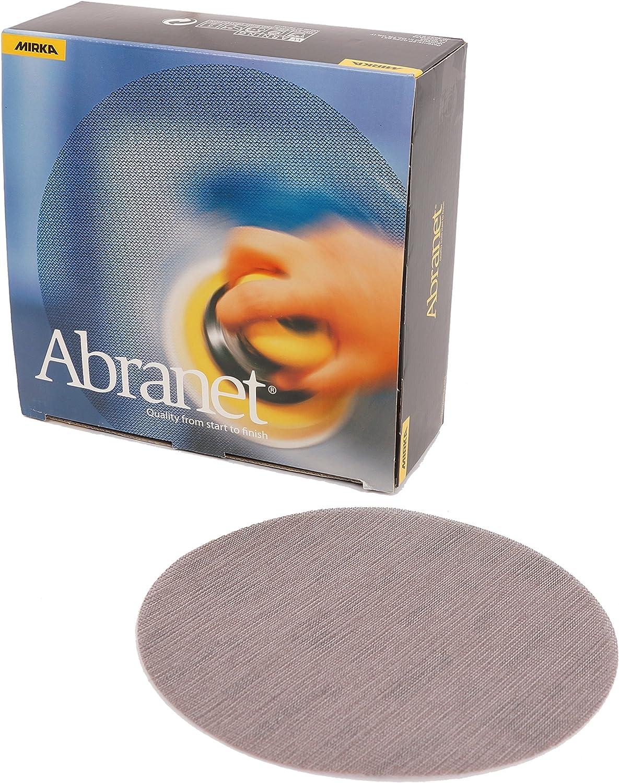 Mirka 9A-252-120 8-Inch 120 Grit Mesh Abrasive Dust Free Sanding Discs, Box of 50 Discs