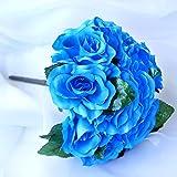 BalsaCircle 4 Bridal Flowers Velvet Roses