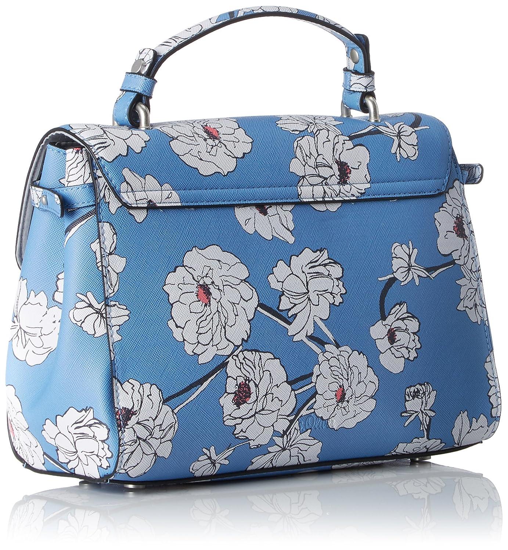 Bags Damen 39.804.94.3335 Umhängetasche, Blau (Blue Aop), 6x18x24 cm s.Oliver