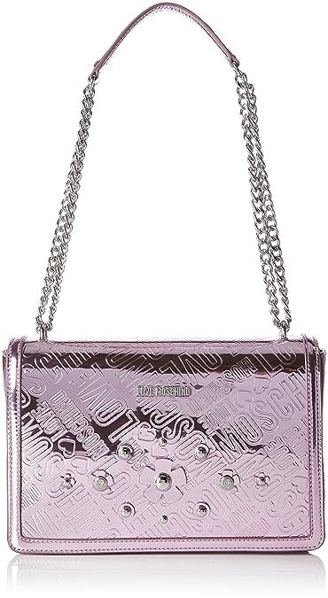 Moschino Borsa Embossed Tpu Rosa, Sacs portés épaule femme, (Pink), 6x19x28 cm (B x H T)