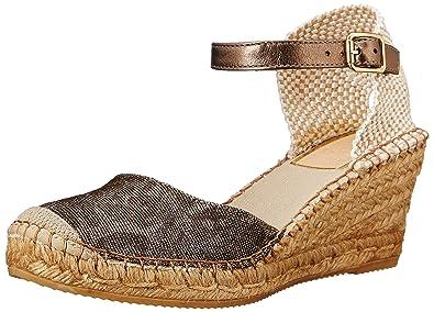 Vidorreta Women's Lucky Cuerda Metallic Leopard Sandal 40 (US Women's ...