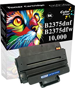 1-Pack Compatible Dell B2375dnf C7D6F 593-BBBJ 2375 Toner Cartridge 8PTH4 Used for Dell B2375dfw B2375 Printers (Black)