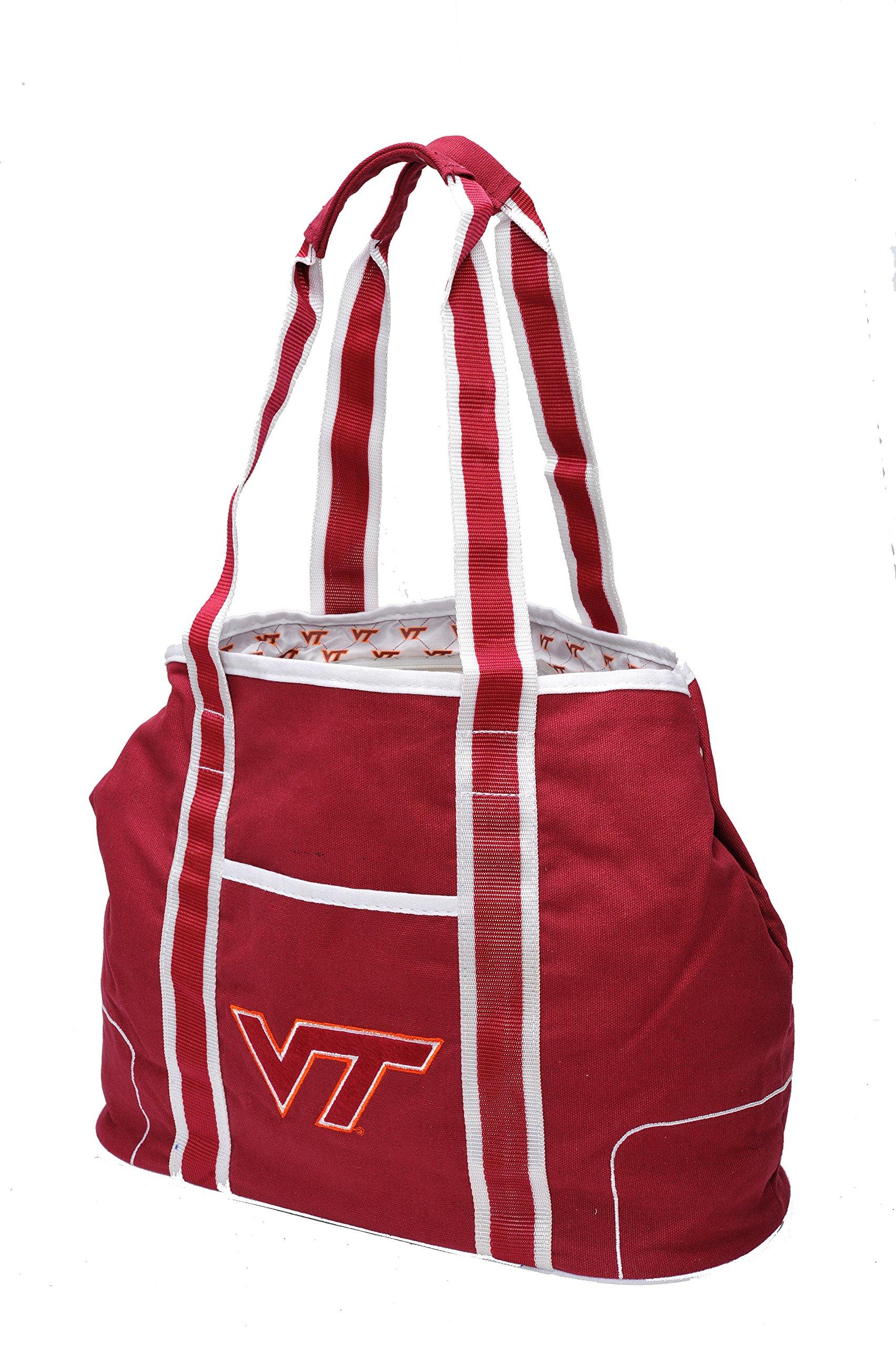 Concept One Accessories NCAA Virginia Tech Hokies Hampton Tote, 12-inch, Maroon