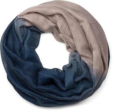 styleBREAKER belle écharpe snood brillante avec un dégradé de couleur,  écharpe à paillettes, paillettes 35042704610