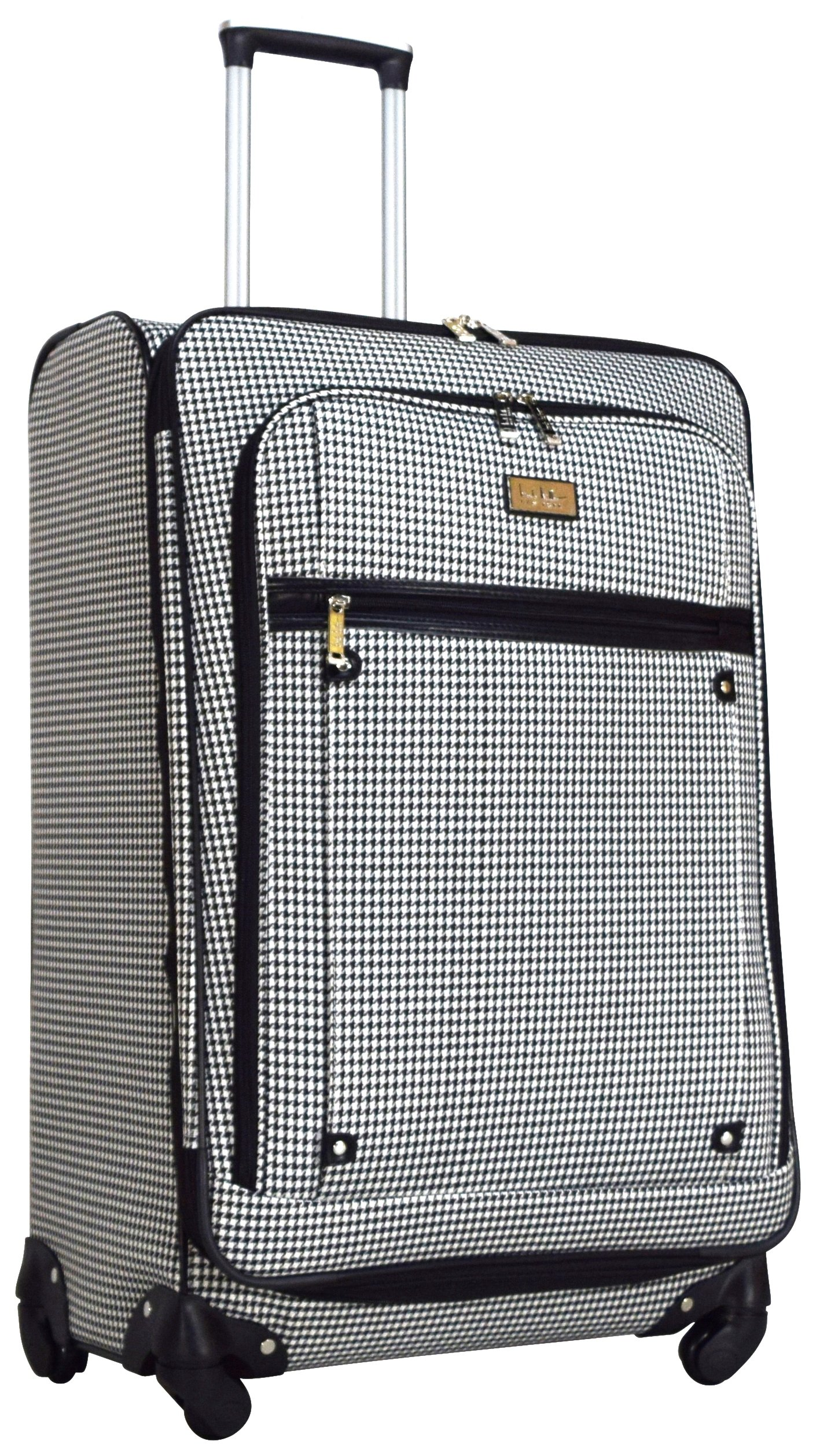 Nicole Miller Taylor 28'' Expandable Spinner Suitcase (Black/White Plaid)
