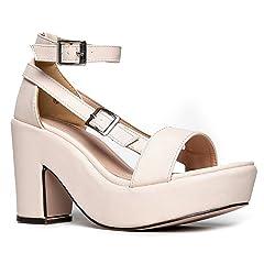 743e41de82f J. Adams Chunky Platform Strappy Sandal - Ankle Strap Block Heel - Flatform Casual  Shoe - Remy - Casual Women s Shoes